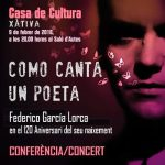 Ian Gibson a Xàtiva per a commemorar l'aniversari de García Lorca